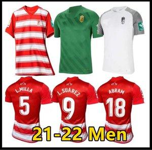 Camiseta 1ª Granada CF L.SUÁREZ Fussball Jerseys 2021 22 Home d.machís A.PUERTAS L.Milla Football Shirt Kit Domingos D. Soro C.Neva Molina Mönchu Luis Abram Maillots de Foot