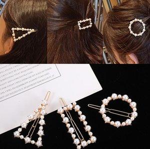 Net red pearl hairpin back head clip South Korea BB clip edge clip new hairpin headdress