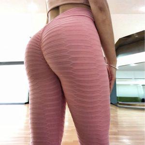 Peach hip fitness running women's leggings tight high waist Yoga Pants sports up stretch speed Capris