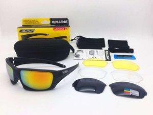 Lunettes de soleil tactiques rouleaux ESS 4 lentilles Lunettes de lunettes avec Eyeshield Oreil Original Case Army