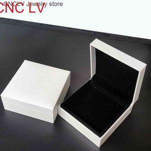 صناديق المجوهرات البيضاء الأصلية مع العلامة التجارية ل باندورا سحر سوار وقلادة جودة عالية هدية التجزئة