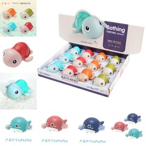 1PCS Baby Bath Toys Cute Cartoon Tortoise Whale Animal Toddler Water Toy Infant Swim Chain Clockwork Summer Time Kids Toy 1423 Y2