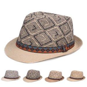 남성 Whosale 여름 패션 chapeau 비치 태양 보호 파나마 재즈 모자 플로피 민족 짚 아버지 와이드 모자에 대 한