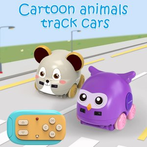 Multifunctional Dual Modes RC mouse Car Owl Wireless Cartoon Animal Shape Obstacle Avoidance Kids Christmas Toys gifts RC CAR