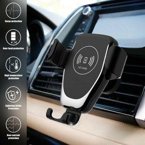 자동 중력 QI 무선 자동차 충전기 마운트 iPhone XS 최대 XR 11 삼성 S10 9 10W 에어 벤트 빠른 충전 전화 홀더