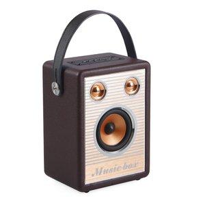 Retro Wireless Bluetooth Speakers Portable Speaker Handsfree MP3 With Mic TF FM HIFI Subwoofer Deep Bass Loudspeakers