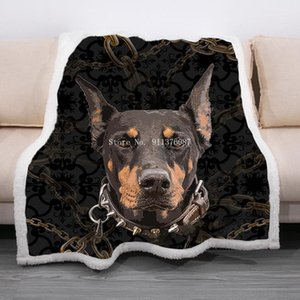 Sheets & Sets Dog Printed Sherpa Blanket Cute Pet Fleece Throw 3D Animal Theme Plush For Sofa Bed Couch Room Decor Lovely Sheet