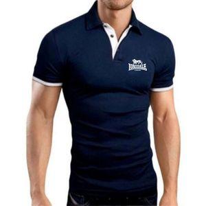 أزياء العلامة التجارية الأيونسديل مطبوعة تي شيرت الرجال قصيرة الأكمام قميص بولو المألوف