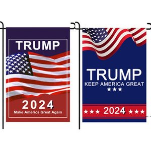DHL Trump 2024 Flag MAGA KAG Republican USA Flags Anti Biden Never BIDEN President Donald Funny Garden Campaign Banner DHA4399