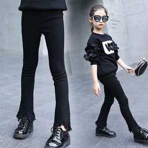 Trousers Spring Girl's Fashion Leisure Trend Cuhk Child Tassel Flares Girls Pant 5-14 Ages