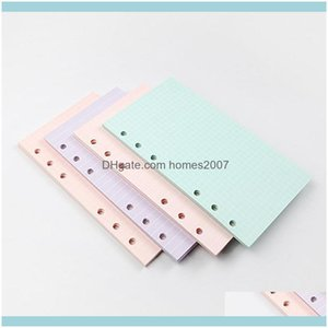 Paper Products Supplies Business & Industrial40 Sheets 5 Colors A6 Loose Leaf Solid Color Notebook Refill Spiral Binder Inside Page Planner