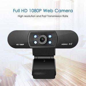 웹캠 H800 풀 HD 비디오 웹캠 1080P 카메라 USB 초점 야간 투시경 컴퓨터 웹 내장 마이크