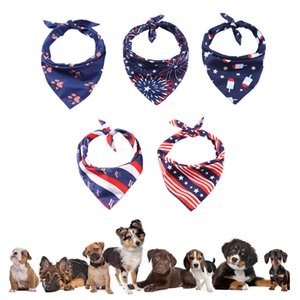 American Flag Dog Bandana Apparel Supplies 4th of July Independence Day Cat Puppy Bibs Pet Scarfs for Small Medium Large Dogs XBJK2105