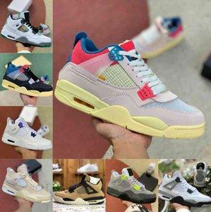 Продажи 4 4S Баскетбольные Обувь Мужчины Женщины Новый Крем Парус Белый Цемент Вызренный Суд Фиолетовый Союз La Guava Ice Rasta Чистые деньги Спортивные Обувь