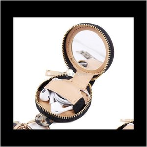 Key Chain Bracelet Pu Leather Tassels Bracelets Keychain Wristlet Bluetooth Headset Storage Box Makeup Bag With Mirror Earphone Bag Wl 0Jrai