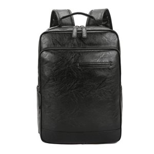 Weysfor 2021 Waterproof 15 Inch Laptop Backpack Fashion Men PU Leather Backpacks For Teenager Travel Casual Daypack Mochila Male
