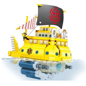 SY6295 One Piece Luffy Polortang Pirates Ship Model Trafalgar Law Kits Building Blocks Bricks Toy