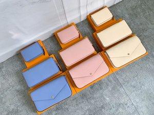 Original Box POCHETTE FELICIE Women Vintage Shoulder Bag Handbag M61276 Hobo 3pcs set Clutch Wallet Luxury Designer Crossbody Bags Removable Chain Coin Purse Tote