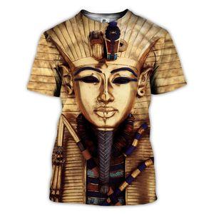 Sonspee 3D Imprimer Ancien roi TUTANCHAMUN T-shirt Homme Egyptian Eye of Horus T-shirt Femmes Summer Hip Hop Tee Tee Tee-shirts