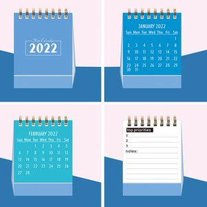 2022 2021 Simple Desktop Calendar Coil Creative Portable Work Note New Year Plan Daily Monthly Planner Schedule Office School Supplies wzg HP0715