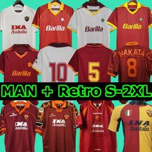 1996 1997 1998 1999 2000 Roma rétro Soccer Jersey 1992 1994 Totti Nakata Batistuta Candela Montella Balbo 91 92 94 Rome Maglia da Calcio