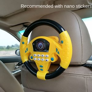 Co-pilot steering wheel toy simulation driving game baby puzzle children infants