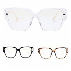 Women's Square Eyewear Fashion Style Square Popular Glasses Semi Metal Retro Sunglasses New Mirror Plastic Adult WEIXINBUY