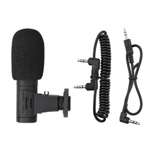 Microphones 3.5mm Real-Time Monitoring Recording Microphone With 1 4 Screw Condenser For Phone Camera Vlog Interview