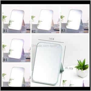 High List Makeup Mirror Desktop Colorful Vanity Mirror Folding Portable Large Square Princess Mirror 20Dot5X 14 Cm Eea910-8 7X8S8 Movpq