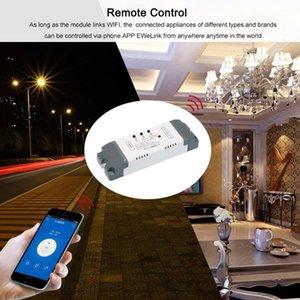 스마트 WiFi 스위치 433MHz 범용 무선 원격 제어 모듈 2CH DC / AC7-32V 타이머 전화 호환 지문 액세스