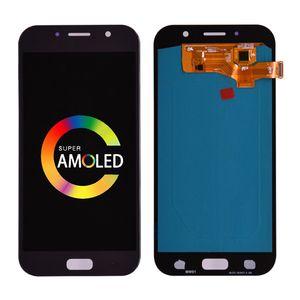 A720 100% SAMSUNG GALAXY A7 için Süper AMOLED Paneller Test 2017 LCD A720F A720S A720F / DS Ekran Dokunmatik Ekran Digitizer Meclisi Değiştirme Toptan Yedek Parçalar