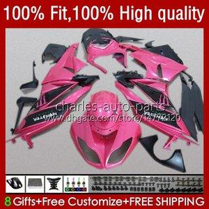 OEM Body For KAWASAKI NINJA ZX600C ZX 6R 600 CC 6 R 636 2009 2010 2011 2012 13No.105 ZX600 ZX636 ZX-6R 2009-2012 ZX-636 600CC ZX6R 09 10 11 12 Injection Fairing pink glossy
