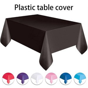 Disposable Table Covers Environmentally Friendly Plastic Party Wedding Tablecloth Set Catering Meal Tableware Cloth Kichen Accessories