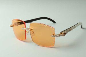 2021 high-end designers sunglasses 3524022 endless diamond cutting lens natural hybrid OX horn legs glasses, size: 58-18-140mm