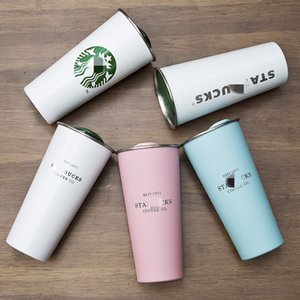 Starbucks New Vacuum Insulated Travel Coffee mark mug stainless steel thermos cup spiral gradient male and female