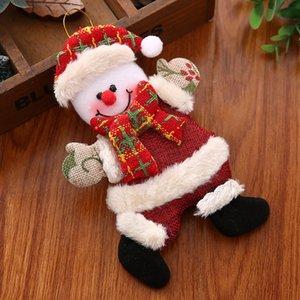 Christmas Decorations Storefront Door Tree Pendant Santa Doll Deer Snowman GWA9208