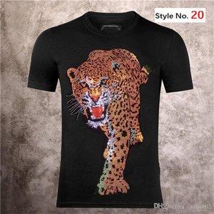men T shirt diamond Skulls Short sleeve top European American printing women couples high quality t-shirt M-3XL
