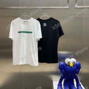 21 ss männer gedruckt t shirts designer paris floral stickerei zurück kleidung kurzarm herren hemd tag weiß schwarz 05