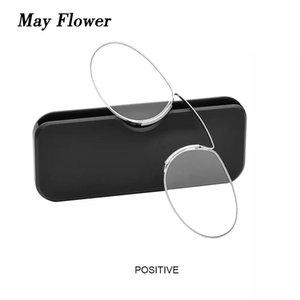Mai Blume tragbarer dünnes Pince-Nez-Nasenclip-Lesegläser Ultraleichtes Mini-SOS-Rezept ohne Beine für Menwomen-Sonnenbrillen