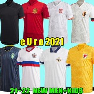 2021 Camisetas de fútbol Bélgica España España Gales Irlanda del Norte Suecia Rusia Escocia 2022 Camisetas de fútbol euRo Hombres Kits Uniformes