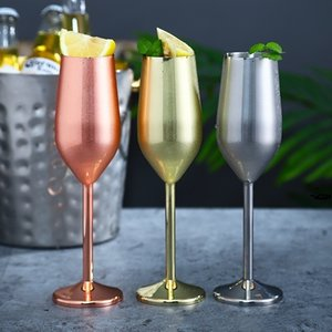 Stainless Steel Champagne Glass 220ml   7oz Wine Cup 500ml   16oz Wine Glass Bar Restaurant Goblet T500661