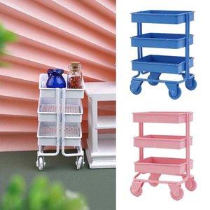 1:12 Doll House Furniture Simulation Model Mini Storage Trolley 3 DIY Colors Dollhouse Miniature Accessories V4I9