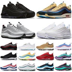 max 97 sean wotherspoon 97 Erkek Koşu ayakkabıları Vintage Mozaik oyunu kraliyet İsa Üçlü Beyaz Siyah Gümüş Bullet 97s Erkekler kadın spor Spor ayakkabılar