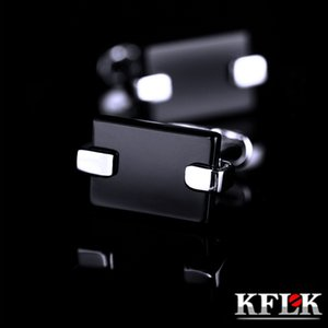 KFLK Jewelry shirt cuff link for mens gifts Brand buttons cufflink Black gemelos High Quality abotoadura guests Great workmanship durable and nice