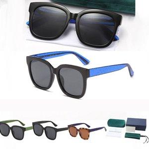 إمرأة رجالي الصيف النظارات الشمسية 2021 أزياء اللون مطابقة مع رسائل معدنية نظارات شمسية 1 مجموعة 4 ألوان اختياري