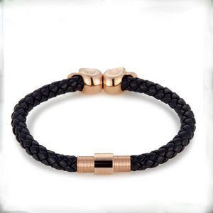 Colombie-Britannique Bijoux Vente chaude Mode Mens Véritable Cuir Tressé Northskull Bracelets Double Skull Bracelet BC-002