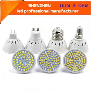 Lâmpada LED Spotlight Bulbo GU10 E27 E14 Bombillas LEDS Lâmpada 220V 240V 2835 SMD 48 60 80 Iluminação interna Mr16led Cup