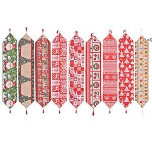Рождественские тканевые столовые бегун 180 * 35 см Веселые рождественские кухонные столы украшения HHD11246