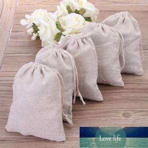 """Sac de cadeau de lin naturel petit sac de cordon de cordon 10x15cm (4x6 """") Favoris de mariage Favoris Pochettes Maquillage de bijoux Pochette en coton Jute Emballage"""