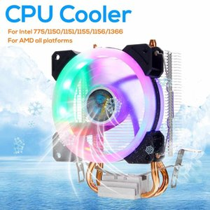 Heatpipes CPU Cooler Freeze Tower LED Cooling Fan Computer System For Intel 775 1150 1151 1155 1156 1366 HUANANZHI Fans & Coolings